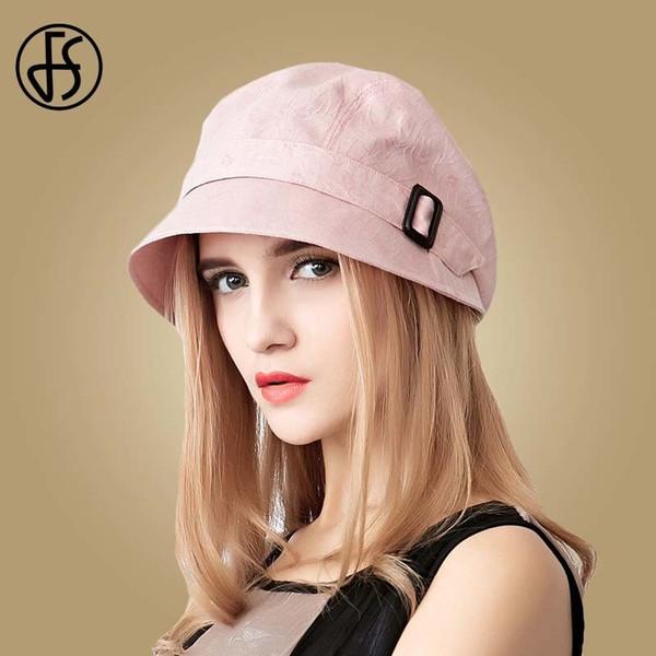 Fs Fashion Cotton Sun Hat For Women Summer Outdoor Foldable Beach Hats Blue Pink Dark Gray Wide Brim Casual Visor Caps Femme Y19070503