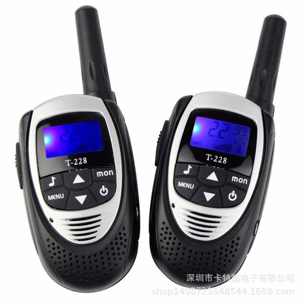 2PCS/Pack T-228 Mini Outdoor Kids Interphones Portable Adventure Radio Transceiver Hand-held Child Walkie-Talkies