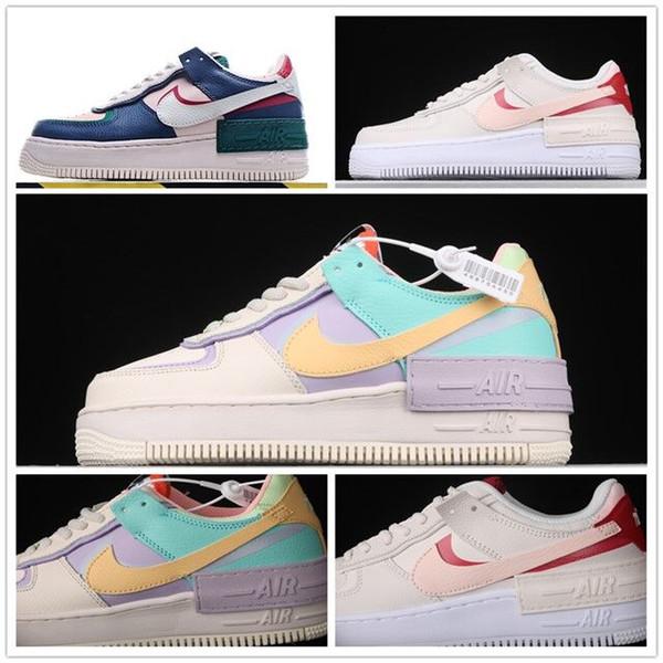 Luxury Designèr Nikè Air Forcè Force 1 Low 07 WMNS Shadow Tropical Twist Multi Color Utility Candy Macaron Girls Skateboard Sneakers Shoes