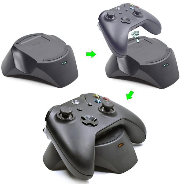 Kablosuz Kumanda İstasyonu Xbox One / İnce / X Slim için Şarj Yuvası Şarj Edilebilir Gamepad Pil Paketi Kümesi için Şarj Standı