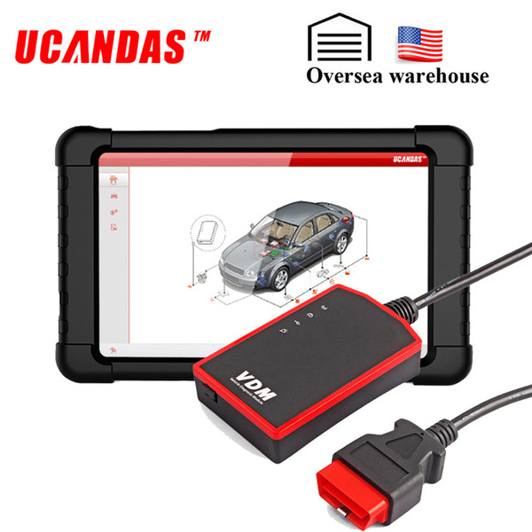 UCANDAS VDM WIFI Professional Car Diagnostic Tool Full System Scan Gearbox Airbag ABS Free Update Automotive Tablet Scanner