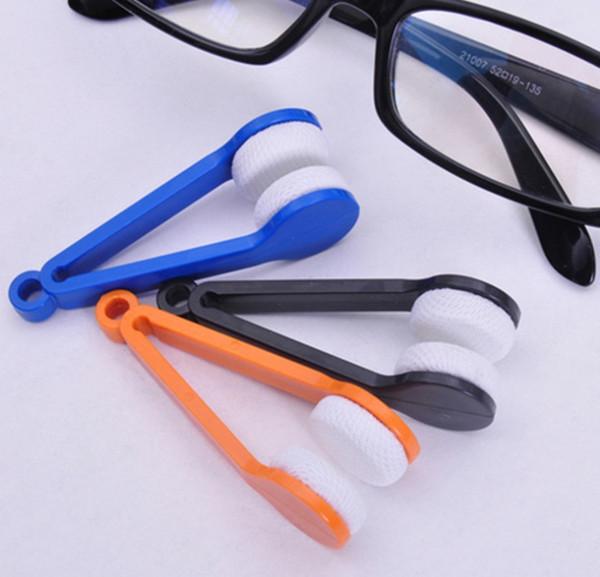 Мини-очки из микрофибры Очиститель линз Солнцезащитные очки Ручка для чистки объектива Щетка для очистки очков 3 салфетки для очистки ePacket