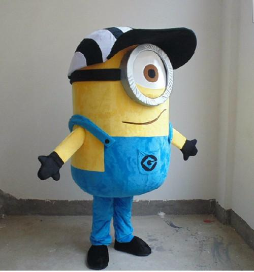 best selling high quality minion mascot costume for adults mascot costume EPE material free shipping