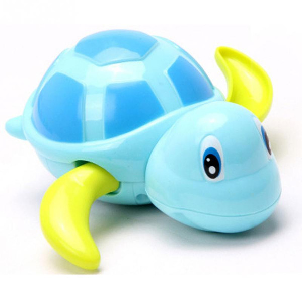 Newborn Cute Tortoise Baby Bath Toy Infant Swim Turtle Chain Clockwork Classic Toys For Children christmas gift