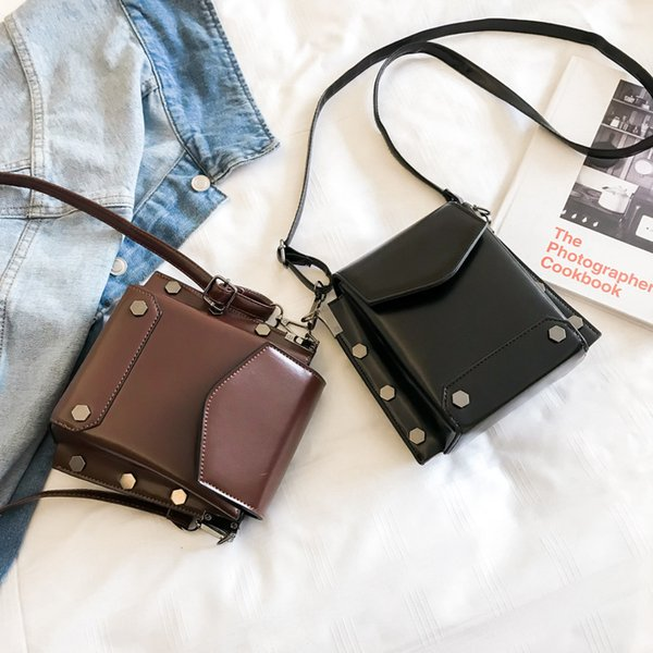 Free2019 Mini- Texture Bag Woman Autumn Joker Solid Color Small Square Ins Single Shoulder Messenger Mobile Phone Package