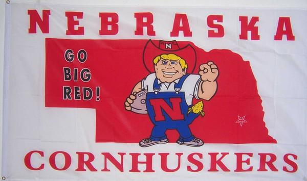 NEBRASKA CORNHUSKERS GO BANNER FLAG
