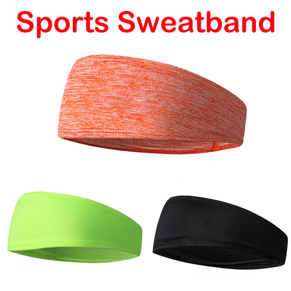 Fashion Yoga Headband Sweat-Absorbent Headbands Men Sports Hairband With Solid Color Hair Hoop Sweatband Support FBA Drop Shipping M230F