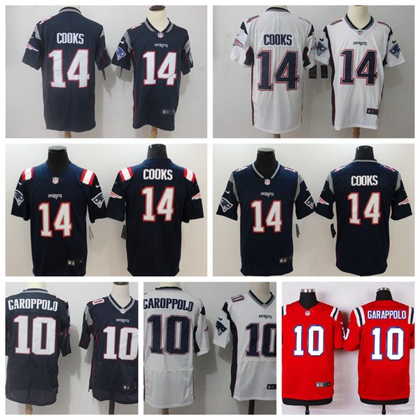 476963717 2019 New Mens 14 Brandin Cooks Jersey Patriots Football Jersey 100%  Stitched Embroidery Patriots 10