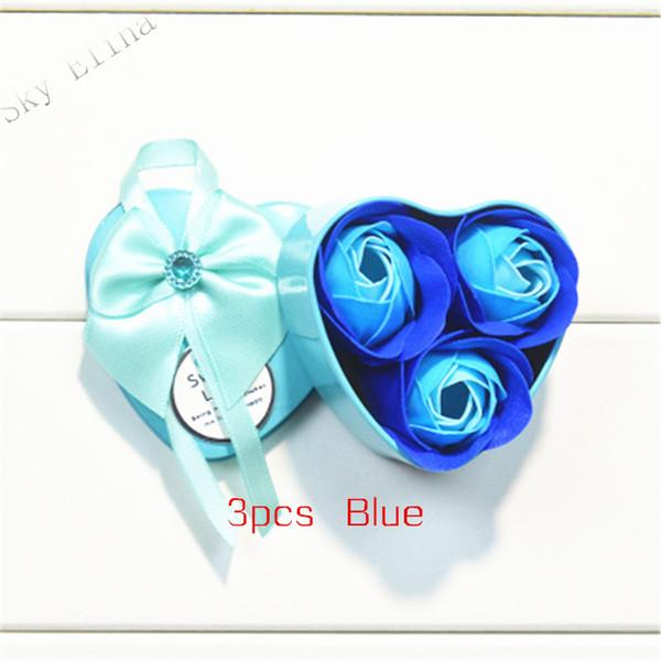 Mavi 3 gül