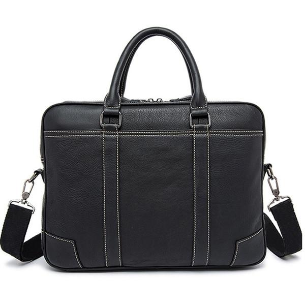 Marke echtes Leder Business Aktentasche Laptop Handtasche Männer Schulter Messenger Bag Aktentasche Hohe Kapazität Crossbody Reisetaschen # 138771