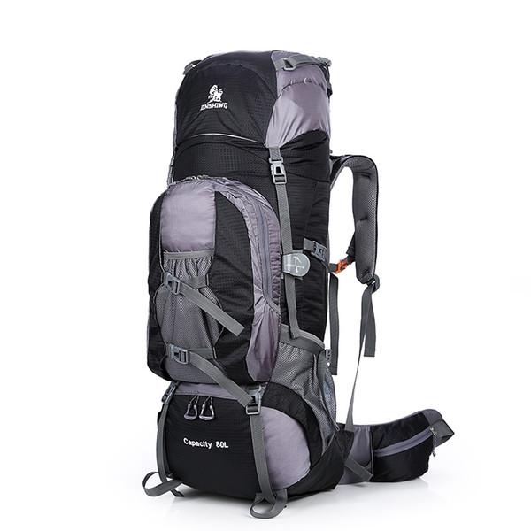 New Large 80L Outdoor Backpack Travel Climbing Backpacks Hiking Sport Bag Camping Backpack Big Capacity Mountain Nylon Rucksack #317860