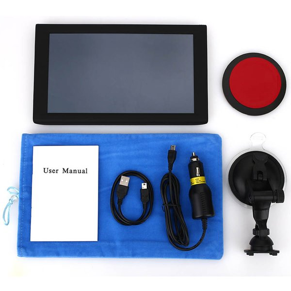 9 Zoll Auto-LKW-GPS-Navigation Capactive-Schirm MTK 256M + 8GB FM Bluetooth AVIN tragbarer Fahrzeugnavigator EU US AU