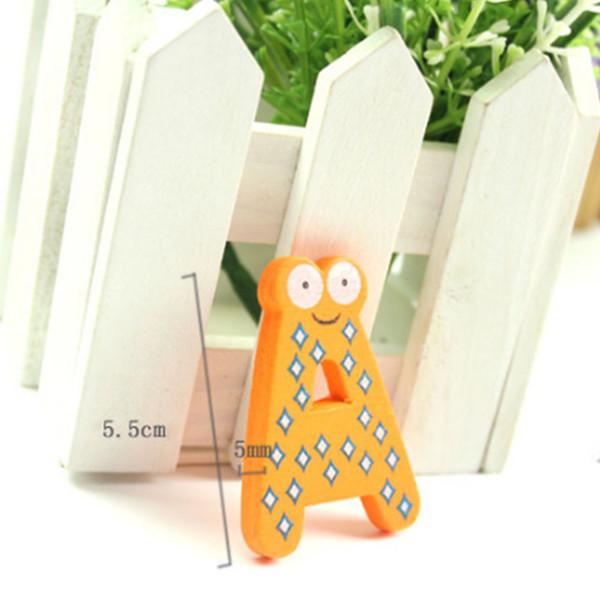 Animal Letters Colorful Fridge Magnets Refrigerator Sticker Gift Magnetic Alphabet Magnet Wooden 26 Pcs/Set Cartoon Durable