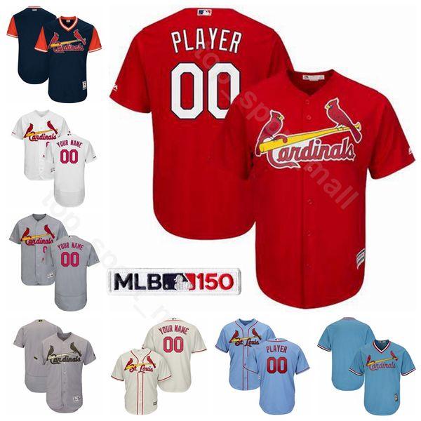 St.Louis Béisbol Cardenales 1 Ozzie Smith Jersey 6 Stan Musial 45 Bob Gibson 5 Albert Pujols Lou Brock Enos Masacre Nombre personalizado