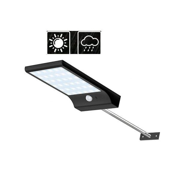 Aluminum pole 36/48 LED Waterproof PIR Motion Sensor Solar Powered Light Outdoor Street security lamp for garden yard pathway pa for yard ga