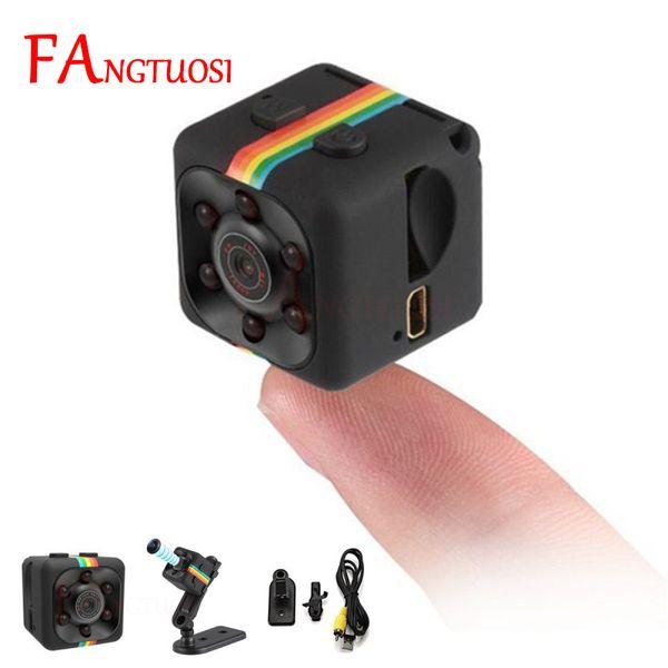 top popular FANGTUOSI sq11 Mini Camera HD 1080P Sensor Night Vision Camcorder Motion DVR Micro Camera Sport DV Video small Camera cam SQ 11 2021