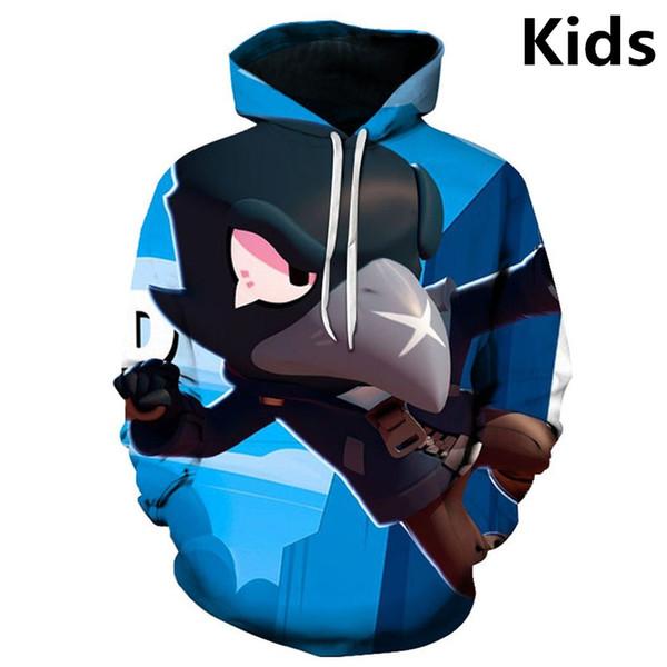 2 to 13 years kids hoodies shooting game 3d printed hoodie sweatshirt boys girls long sleeve cartoon jacket coat teen clothes thumbnail