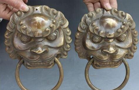 bronze pur cuivre ancien art de laiton de Qing Ming 8