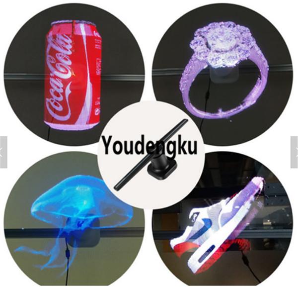 3D Advertising LED Light Hologram Display 3D Holographic Fan 3D Hologram Fan