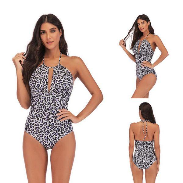 Euro-Americano de gordura plus size swimsuit one-piece emagrecimento magro cross-border biquíni zebra impressão estampa de leopardo 5 tamanhos