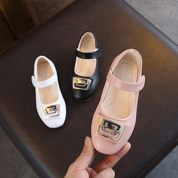 little girls school shoes kids leather shoes sweet pink princess prinsessen schoenen kinderen zapatos escolares 5-15T