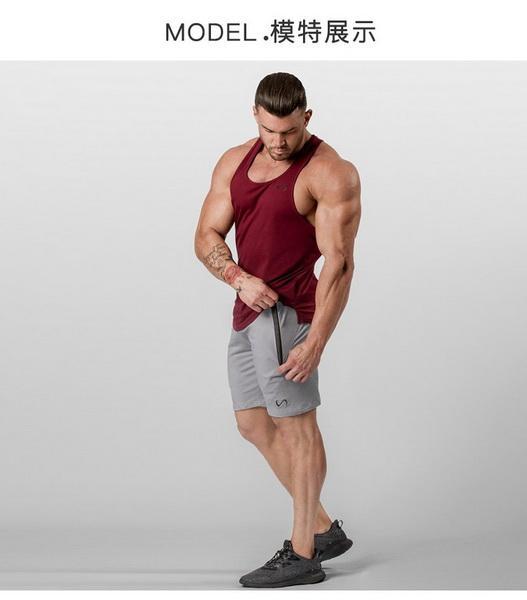 2019 yeni spor erkek şort erkekler eğlence streç spor spor açık nefes ter, sıcak satış sıkı elastik kuvvet moda