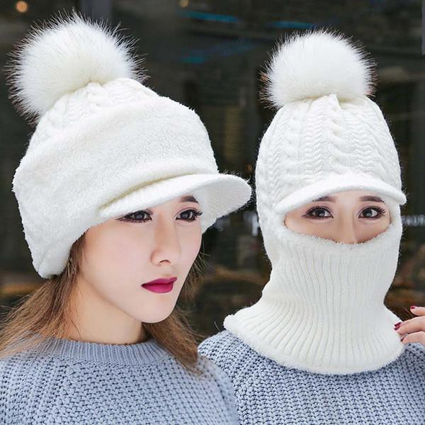 25c883934 2019 Wholesale Plush Hats Funny Winter Cap/ Fashion Cute Pink Bow ...