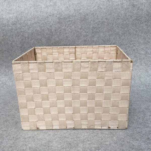 Plastic braided receipt basket, living room cosmetics receipt box, hollow receipt box, desktop with cover clothing finishing box