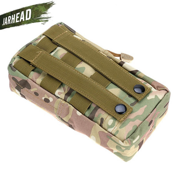 Tactical MOLLE PALS Modular Waist Bag Camo Utility Magazine Pouch Mag Accessory Medic Tool Bag Waterproof Accessories Debris #359479