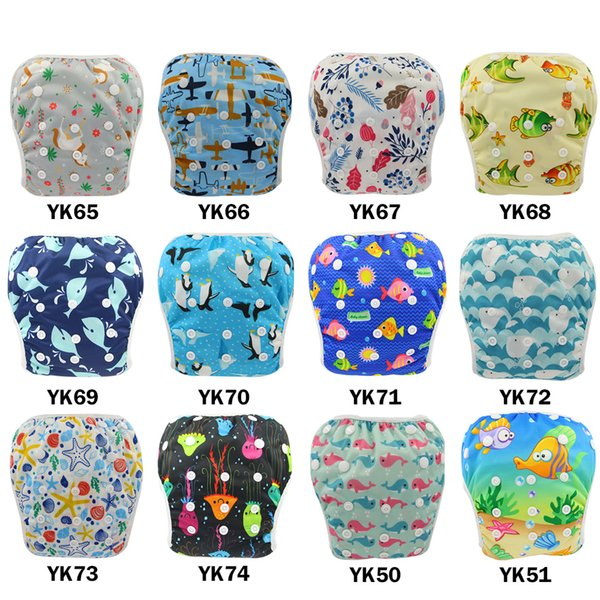 best selling Designer Waterproof Swim Diaper Cover Unicorn Animal Patterns Reusable Diaper Printed Diapers Nappy Cover For Baby Reusable Cloth Nappies