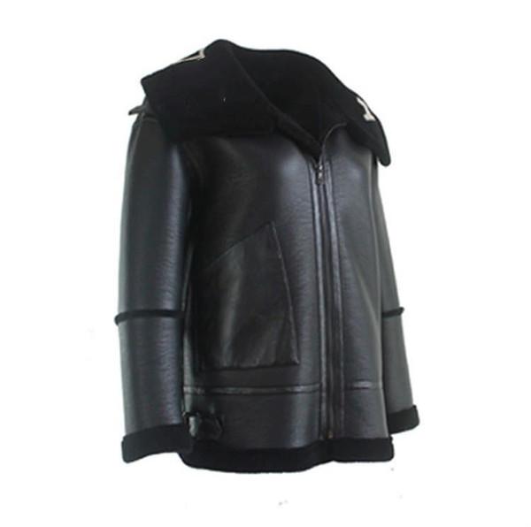 Lüks Tasarımcı Ceket Erkek Yaka Mektupları LOGO Kürk Fermuar Deri Ceket Siyah Tek Parça Ceket Erkekler Ve Kadınlar Çift Yüksek Kalite HFBYJK083