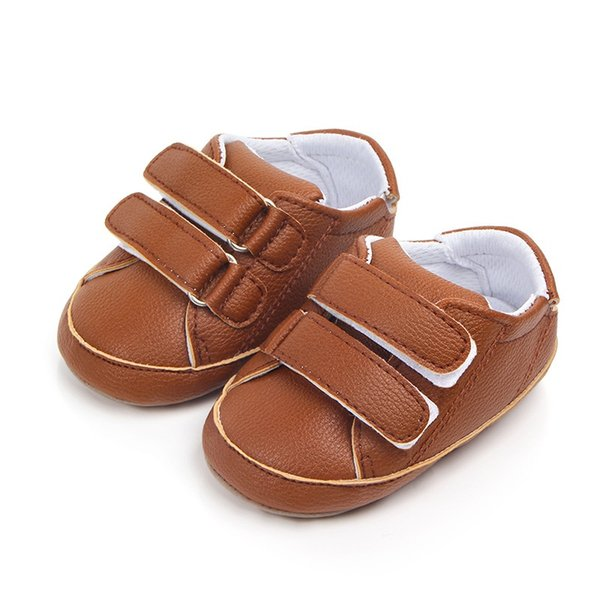 Autumn Baby Girl PU Casual Shoes First Walkersborn Cute Non-slip Soft Soled Sneakers