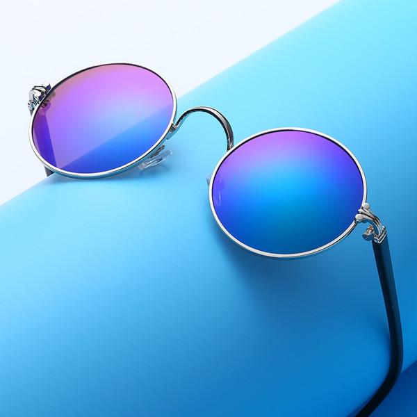 Kottd Yuvarlak Çocuklar Güneş Gözlüğü Kız Retro Metal Gotik Güneş Gözlükleri Modis Çocuk Okulary Gözlük osculos De Sol Feminino