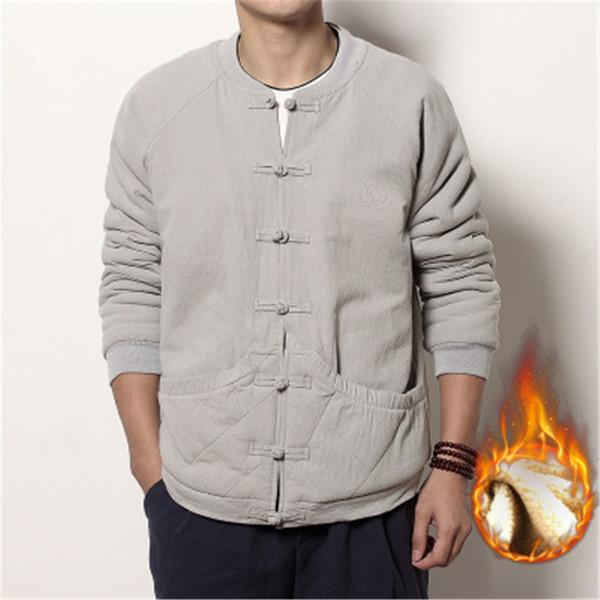 Традиционный китайский Тан куртка зима хлопок белье китайская ткань Тан одежда пальто крыло Чун твердые кунг-фу shirtthick хлопок куртка м3-68