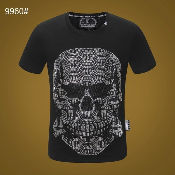 2019 new men's summer a human skeleton print loose fabric absorbs sweat comfortSuper explosive