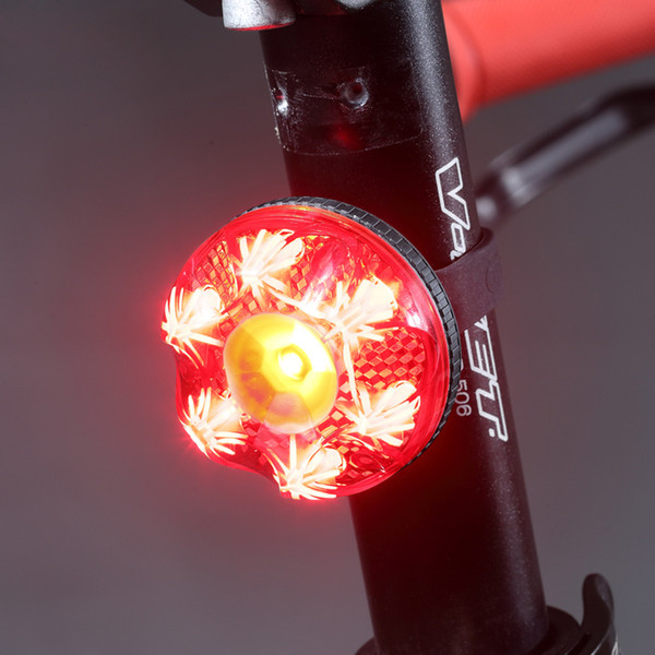 Intelligent Bike Light Brake Light For Bicycle Led Waterproof Rechargeable USB Bike Rear Safety Warning Cycling Lamp