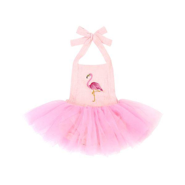 Ins flamingo filles robes bébé barboteuse nouveau-né Tutu robes nouveau-né barboteuse infantile combinaison bébé robe nouveau-né bébé fille vêtements A4290