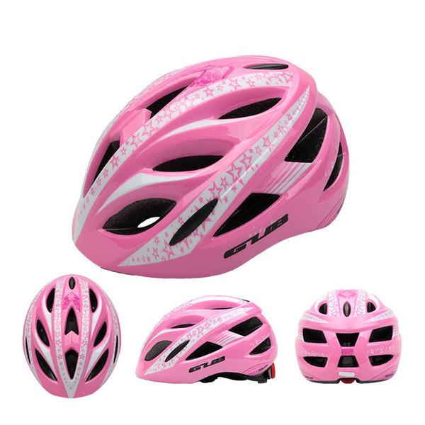 7шт Один набор GUB Star Велоспорт детей Складные Дети велосипед Скутер шлем BMX Скейт Фиксированные Safe Cap Boy Girl - Синий