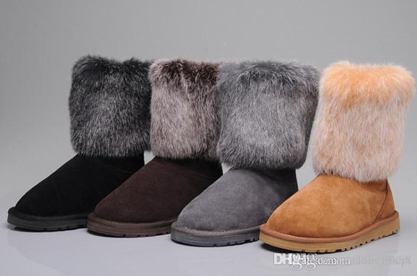 2018 new arrival half boots snow boots cowskin fur limited half boots gray black brown maroon snow women women's winter thickecow muscl