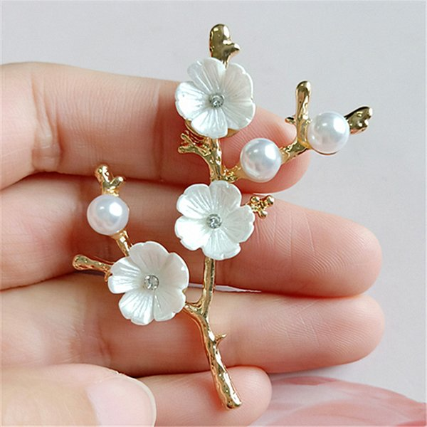 20pcs 5*56mm Gold Tone Alloy Material Imitation Pearl Big Branch Charm Flower Pendant for DIY Handmade Fashion Jewelry Making