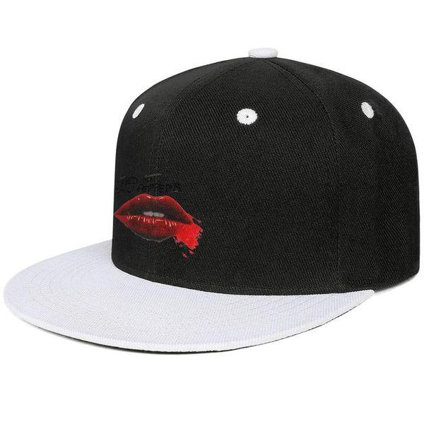 Red Hot Chili Peppers Lips White mens and women baseball flat brim cap cool designer custom sports fashion baseball custom best personalise