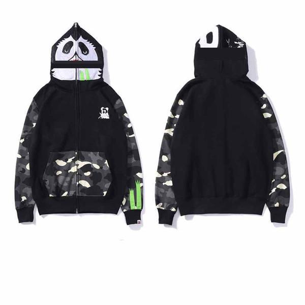 Brand BA fashion Designer mens Outerwear Hoodies street sports hip hop panda Luminous stitching Coats classic luxury cotton man women Jacket