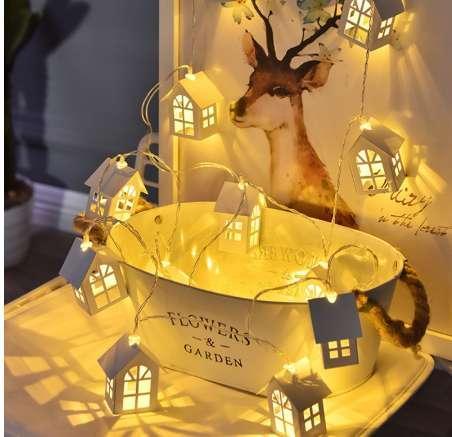 LED-Weihnachtsbaum-Haus-Feen-Art führte helle Kettenhochzeits-Weihnachtsgirlande-neues Jahr-Weihnachtsdekorationen