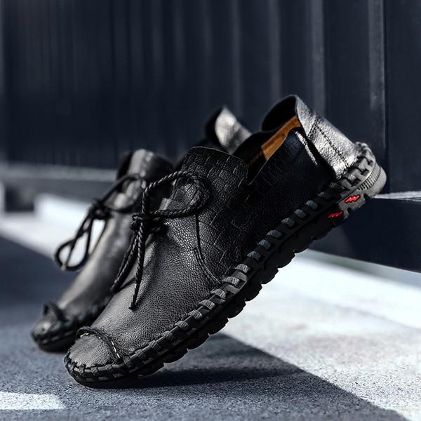 Sapatos masculinos maré sapatos desportivos masculinos versão coreana da tendência de couro grosso selvagem outono
