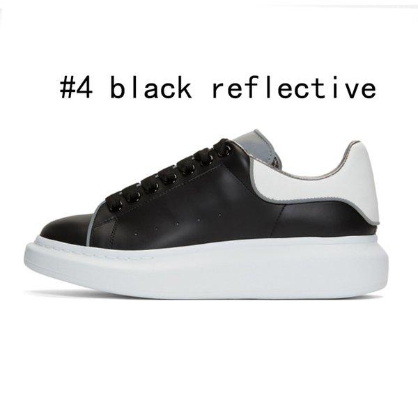 4 schwarz weiß reflektierend 36-44