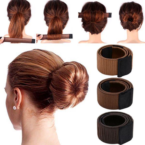 Künstliche Perücke, Crown Girl Magic Bun Maker, weiblich, weibliche Werkzeuge, zweites Haar French Bud Twist Hair Ban