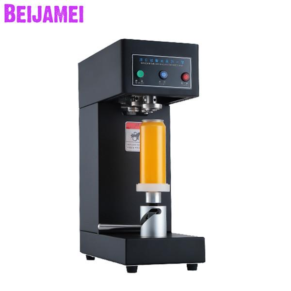 BEIJAMEI High Efficiency 55mm Drink bottle sealer Cans sealing machine Beverage Can seamer machine for Coffee Soda