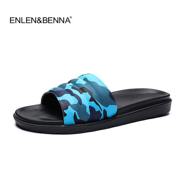 Novo 2019 Chinelos de Verão Homens Sandálias Casuais Lazer Slides Macios EVA Massagem Sandálias de Praia Sandalias Hombre Homens Sapatos Flip Flops
