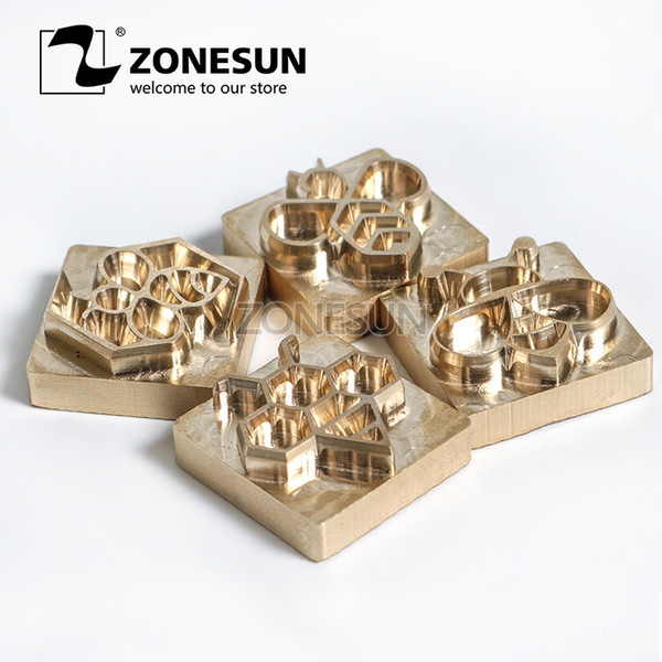 Zonesun Customize Hot Brass Stamp Iron With Logo Personalized Mold Heating On Wood Leather Wedding Invitation Diy Gift Q190528