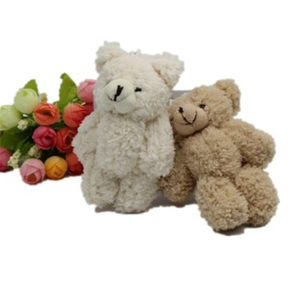 best selling Kawaii Small Jointed Teddy Bears Stuffed Plush With Chain 12CM Toy Teddy-Bear Mini Bear Ted Bears Plush Toys Gifts Christmas gift K0295